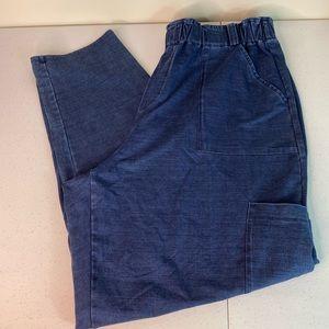 J. Jill Indigo Knit Pull On Pants